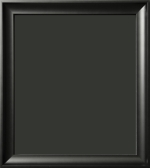 Brooks Contemporary Matte Black Scoop Art Frame 1 1/2""