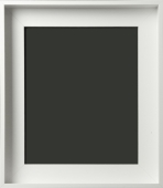 Demarco Silhouette Contemporary Matte white Floater Frame 1 3/4""