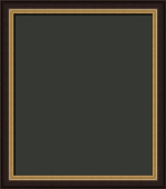 Garrick Federal Style Black and Gold Art  Frame