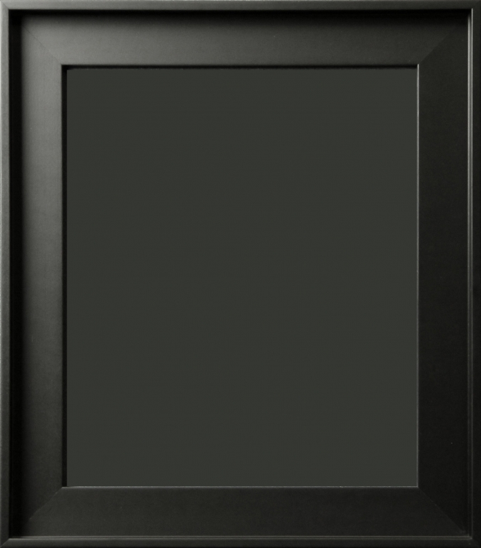 Gavino Silhouette Contemporary Matte Black Floater Frame 1 3/4\