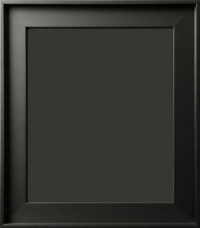Gavino Silhouette Contemporary Matte Black Floater Frame 1