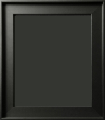 Gavino Silhouette Contemporary Matte Black Floater Frame 1 3/4""