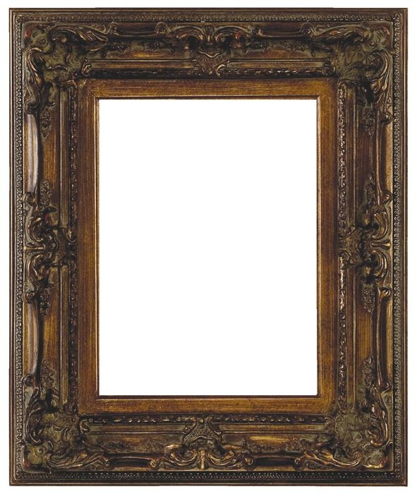 Delightful Antique Picture Frames Part - 9: Genoa French Style Dark Antique Gold Frame