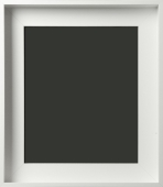 Hallmar Contemporary Matte White Gallery Wrap Floater Frame 2""