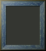 Harriman Blue Denim Distressed Rustic Frame 2 1/4""