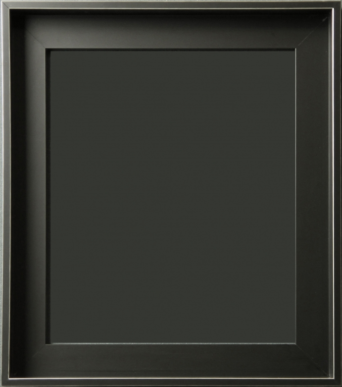 mancinelli matte black floater frame with silver lines 1 38