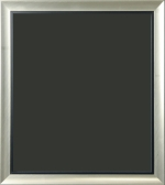 Montello Silver and Black Art Frame 1 1/4""