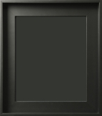 Portici Contemporary Matte Black Gallery Wrap Floater Frame 2""