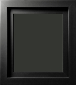Santerno Matte Black Floater Frame 2 3/4""
